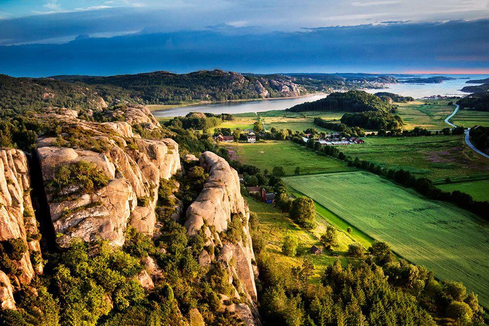 Idyllic coastline Bohuslän province southwest Sweden