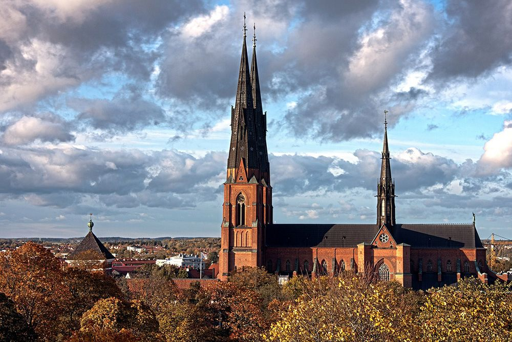 Uppsala Sweden Scenic Landscape Buildings City